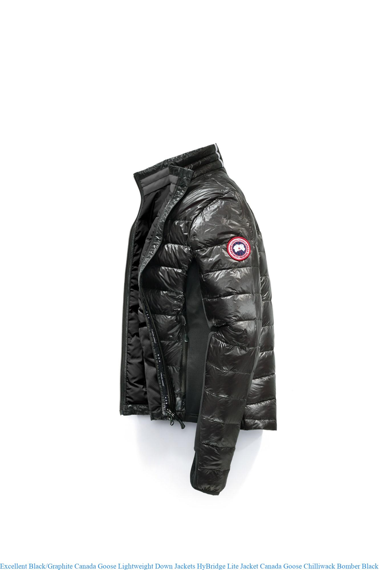 uk cheap sale hot sale exceptional range of styles Excellent Black/Graphite Canada Goose Lightweight Down Jackets HyBridge  Lite Jacket Canada Goose Chilliwack Bomber Black Friday 2701L