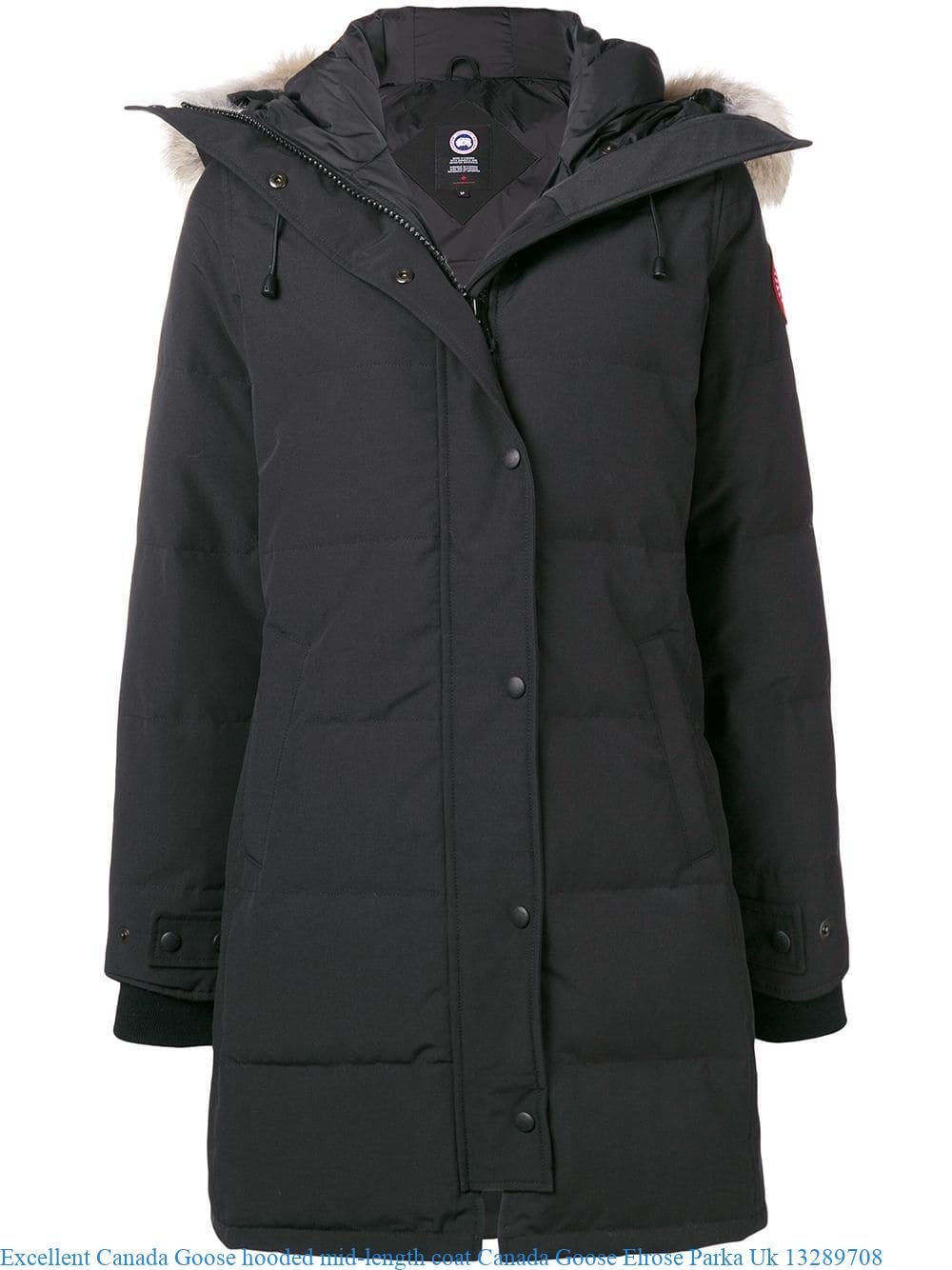 20ea90d8c Excellent Canada Goose hooded mid-length coat Canada Goose Elrose ...
