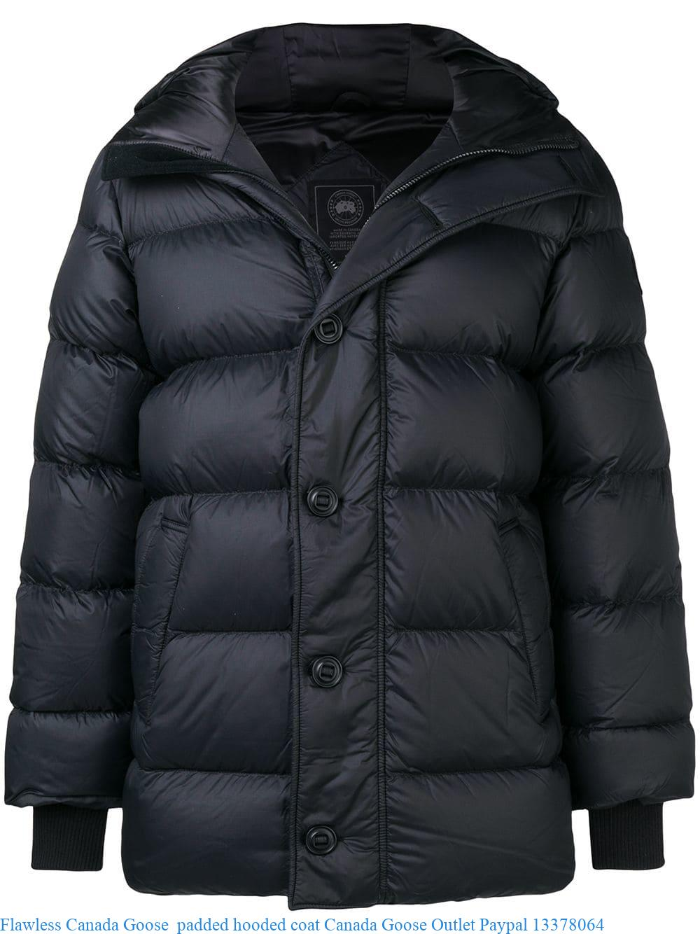67d643889 Flawless Canada Goose padded hooded coat Canada Goose Outlet Paypal ...